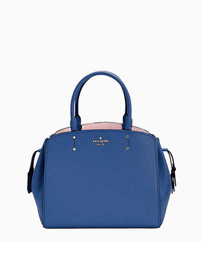Kate Spade Medium Tegan WKRU6855 Satchel Bag In River Blue