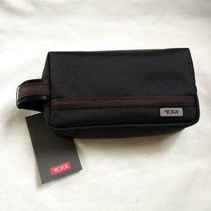 Tumi Small Kit (Black/Brown Line)