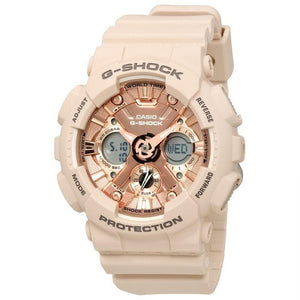 (PREORDER) CASIO UNISEX G-SHOCK RESIN ROSE GOLD-TONE DIAL GMAS120MF4ACR