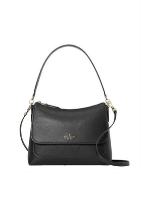 Kate Spade Medium Melody WKRU7067 001 Flap Shoulder Bag In Black