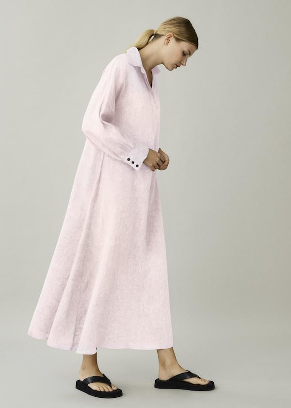 ASCENO PORTO DAWN LINEN SHIRT DRESS