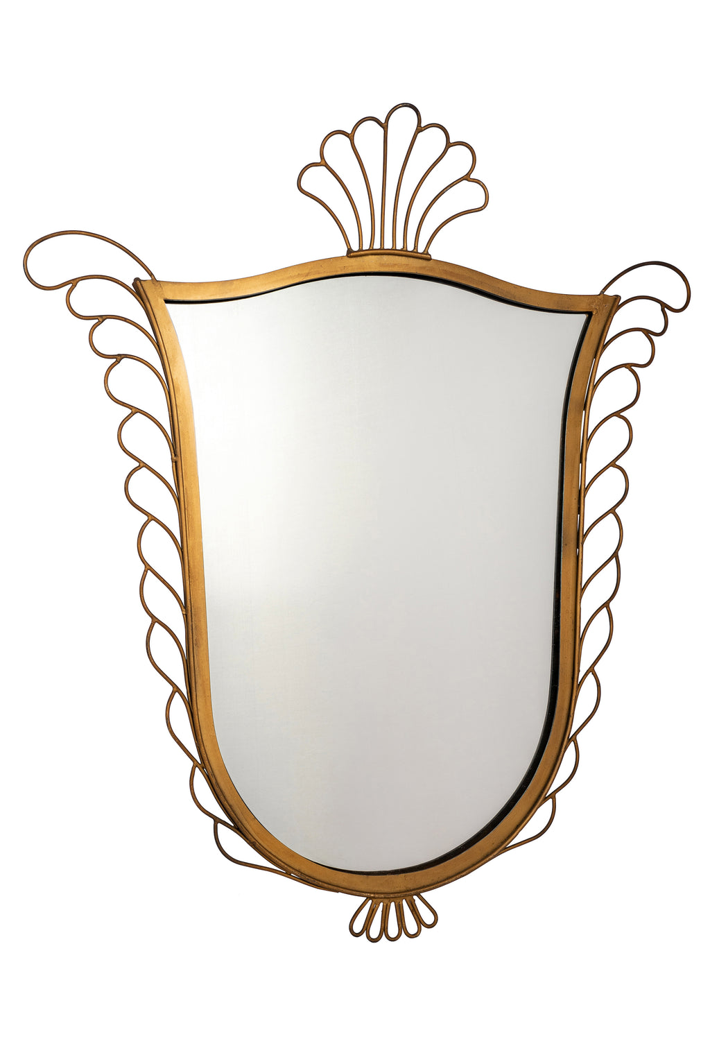 Wing and Crown Antique Mirror