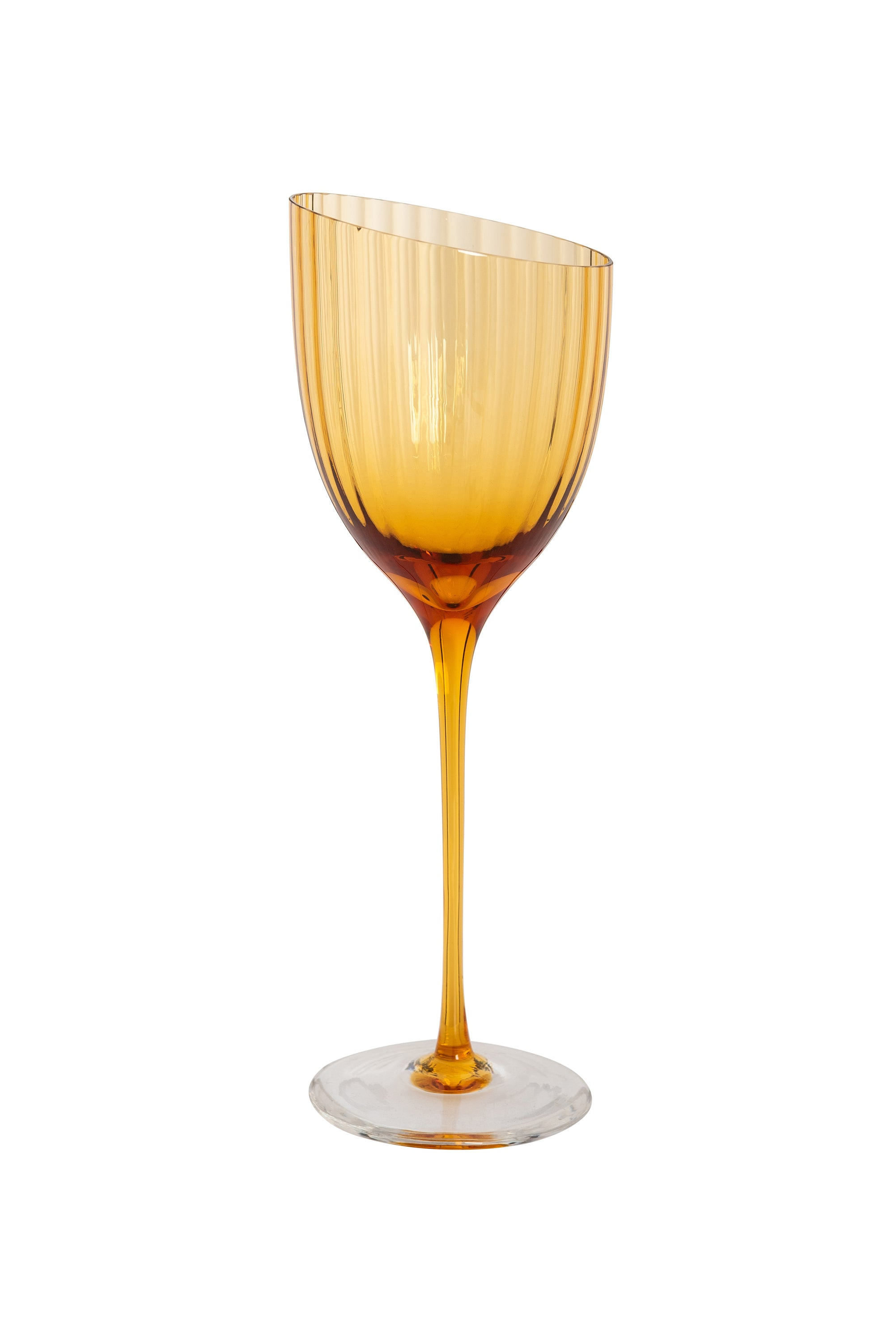 Handblown Italian White Wine Glasses