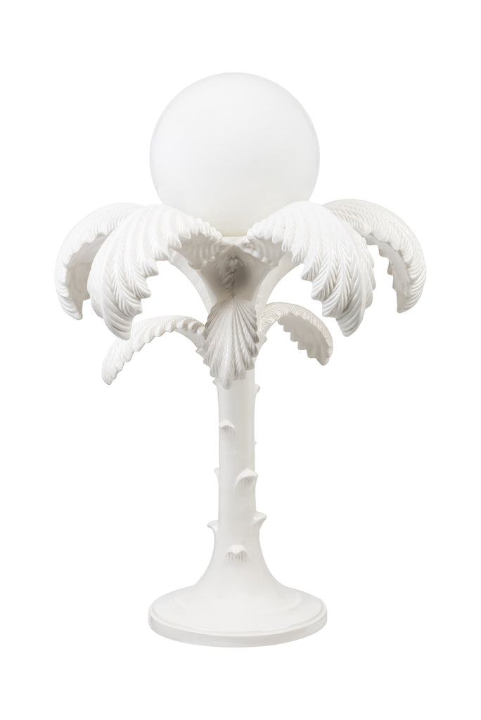 1970s Palm Tree Ceramic Lamp