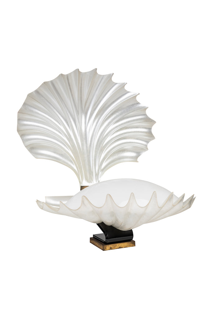 1970s Vintage Liane Rougier Clam Lamp