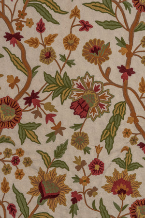 Vintage Handmade Indian Floral Wall-Hanging