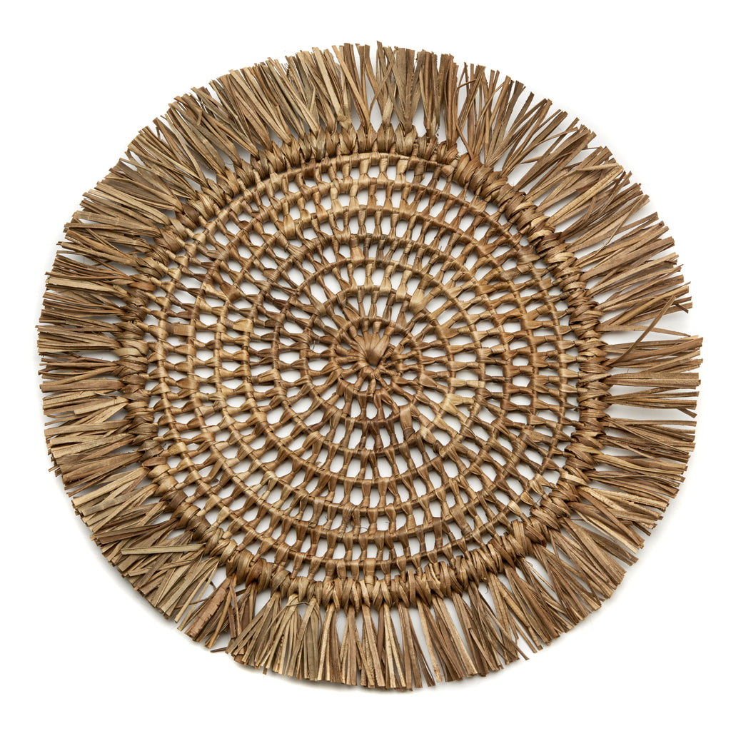 Fringed Raffia Placemats