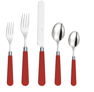 Red Vermillon Mix and Match Colourful French Stainless Steel Cutlery