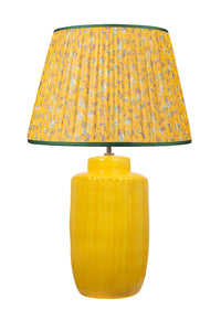 "Yellow Flower 16"" Handmade Silk-Lined Lampshade"