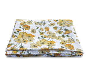 BERTIOLI BY THYME YELLOW ROSE TABLE CLOTH