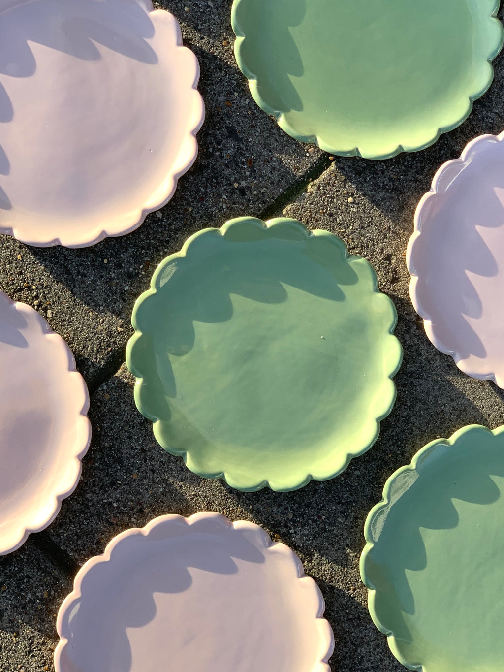 Scalloped Dessert Plates by Karin Hossack