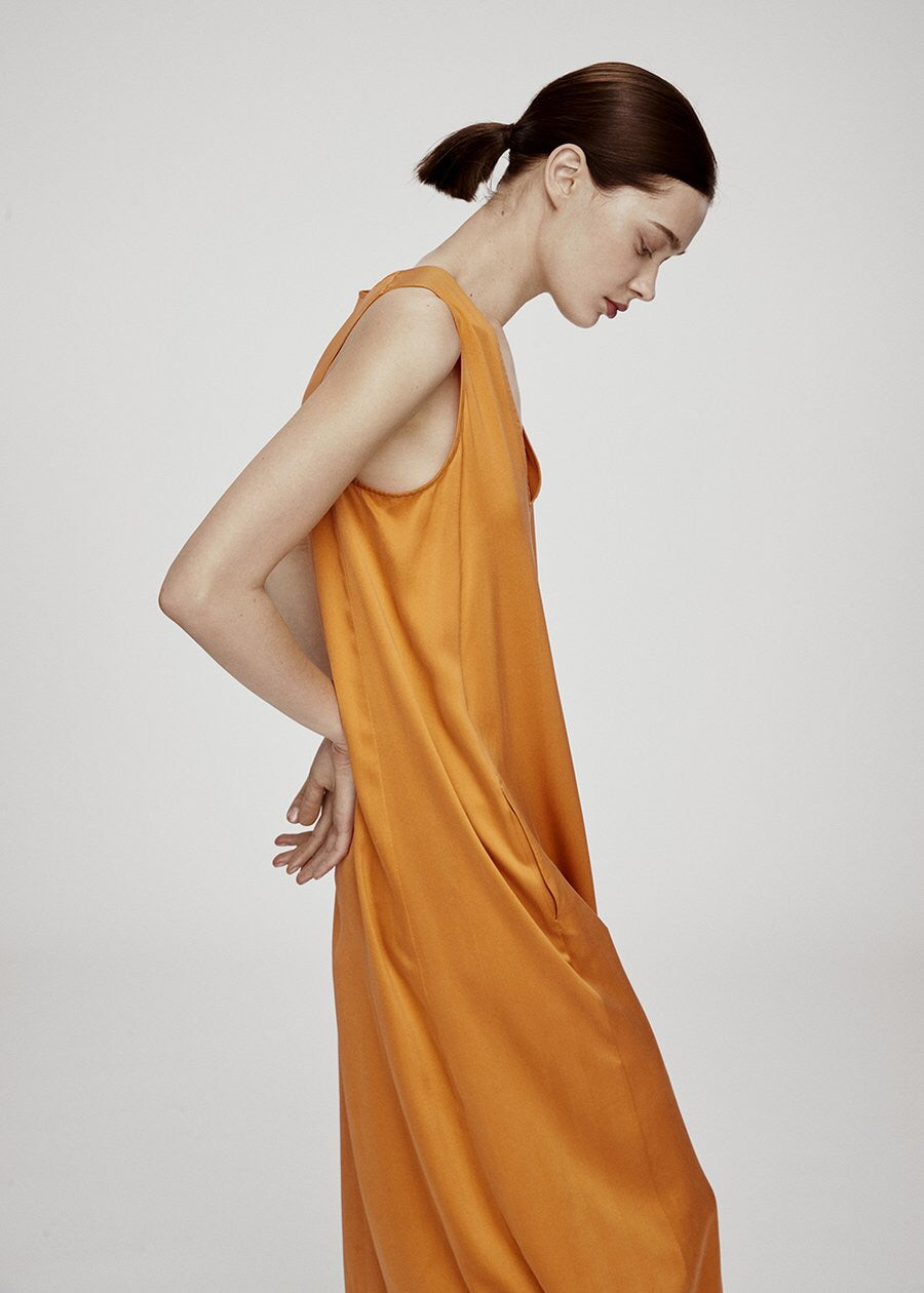 ASCENO SUNSET LONG PANEL DRESS