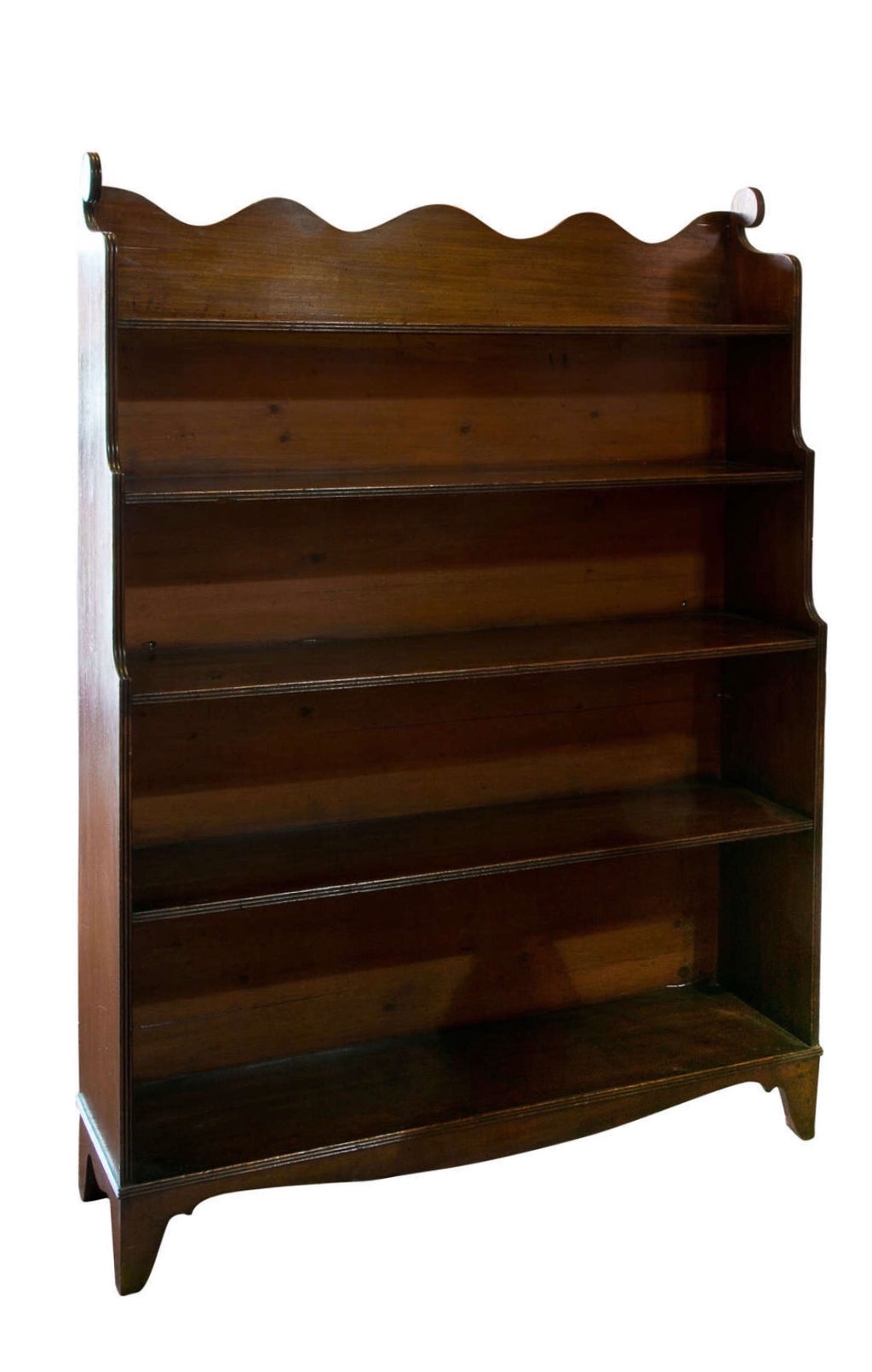 Antique 19th c Mahogany Wave Bookcase