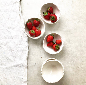 Handmade Scalloped Trinket / Pinch Pots by Karin Hossack