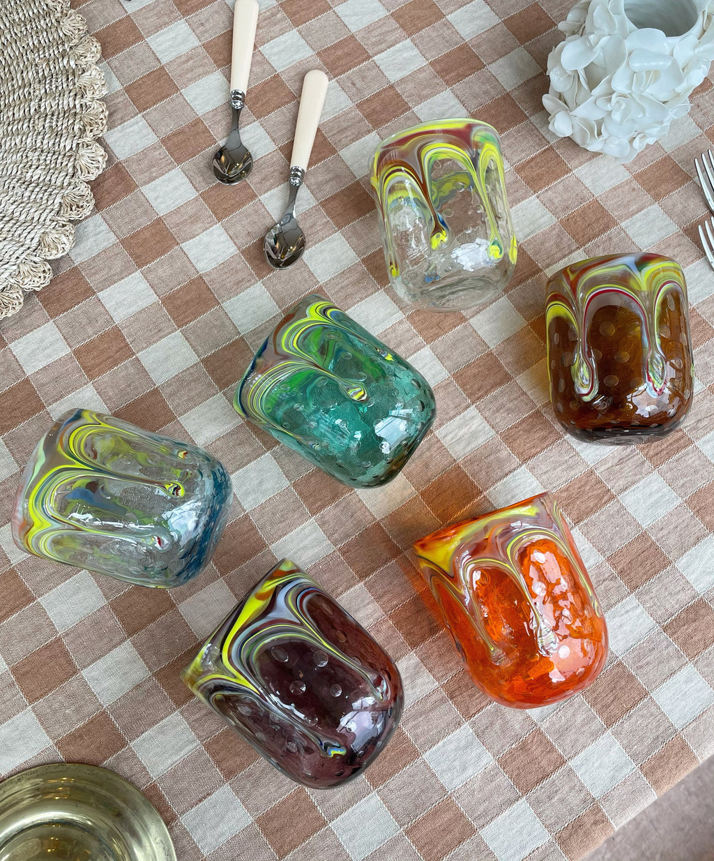 Handblown Murano Drip Glasses