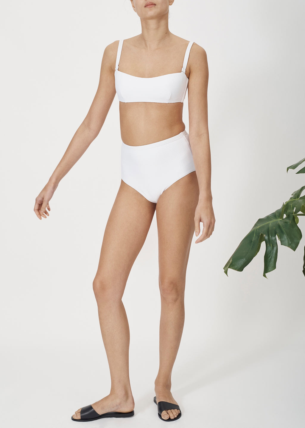 ASCENO BRIGHT WHITE WRAP BANDEAU