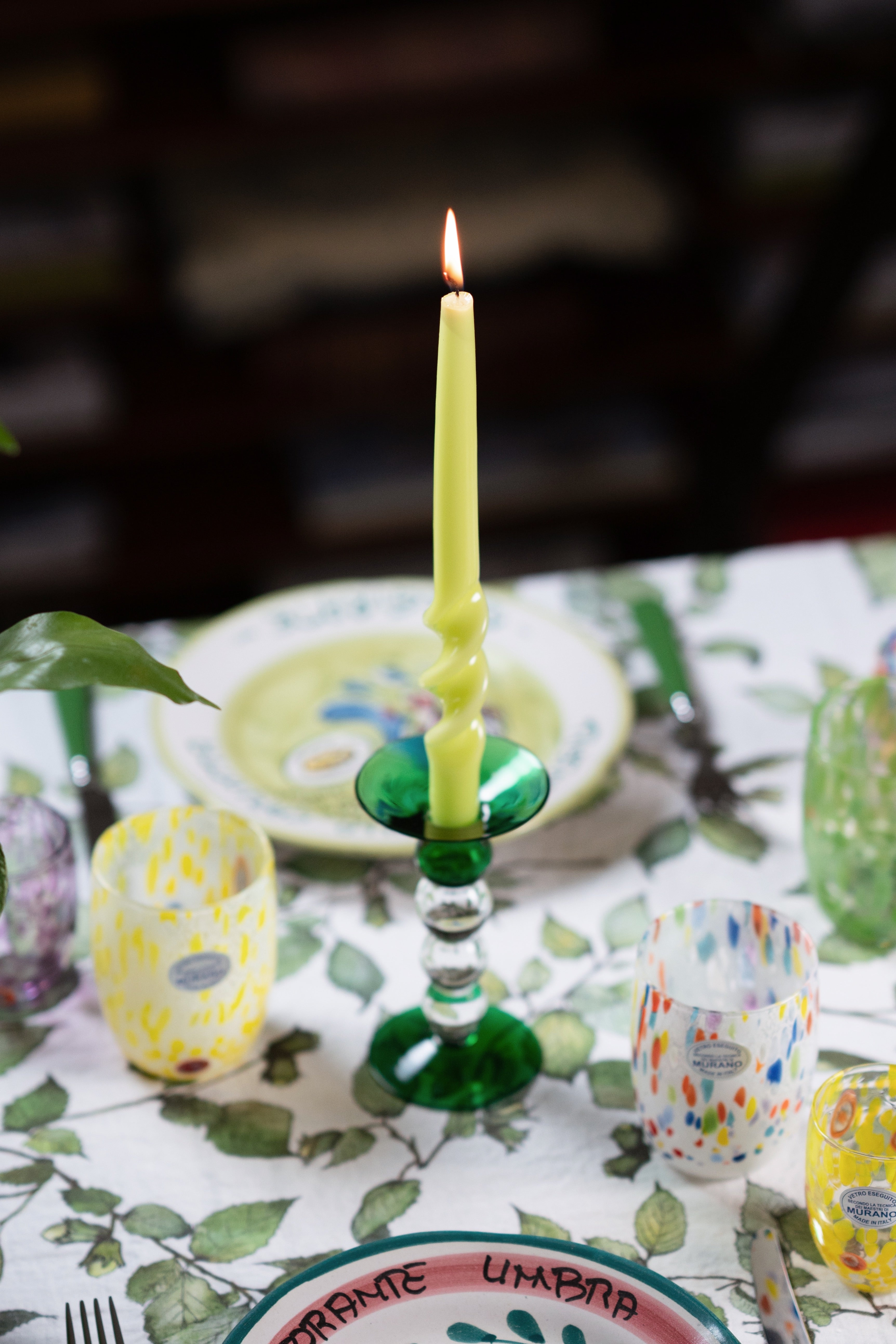 Glass Candlestick holders