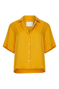 ASCENO PRAGUE SUNFLOWER SILK SHIRT