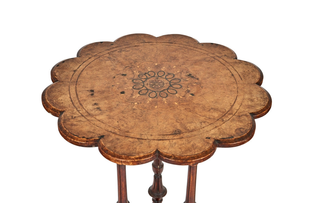 Antique Scalloped Side/Wine Table