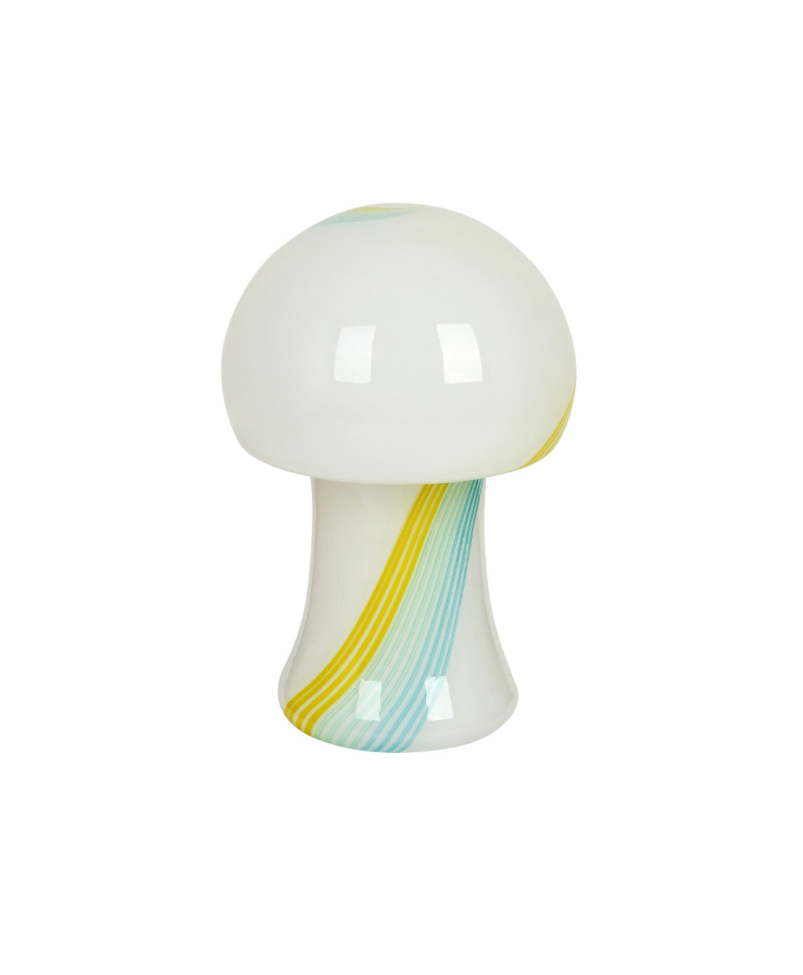 Vintage Coloured Swirl Murano Mushroom Lamp