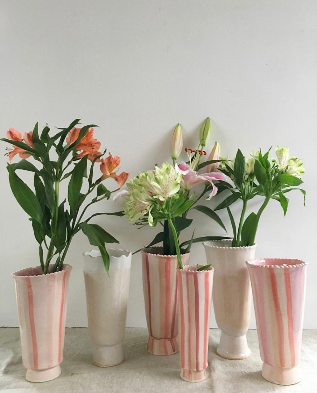 Daisy Striped Vase