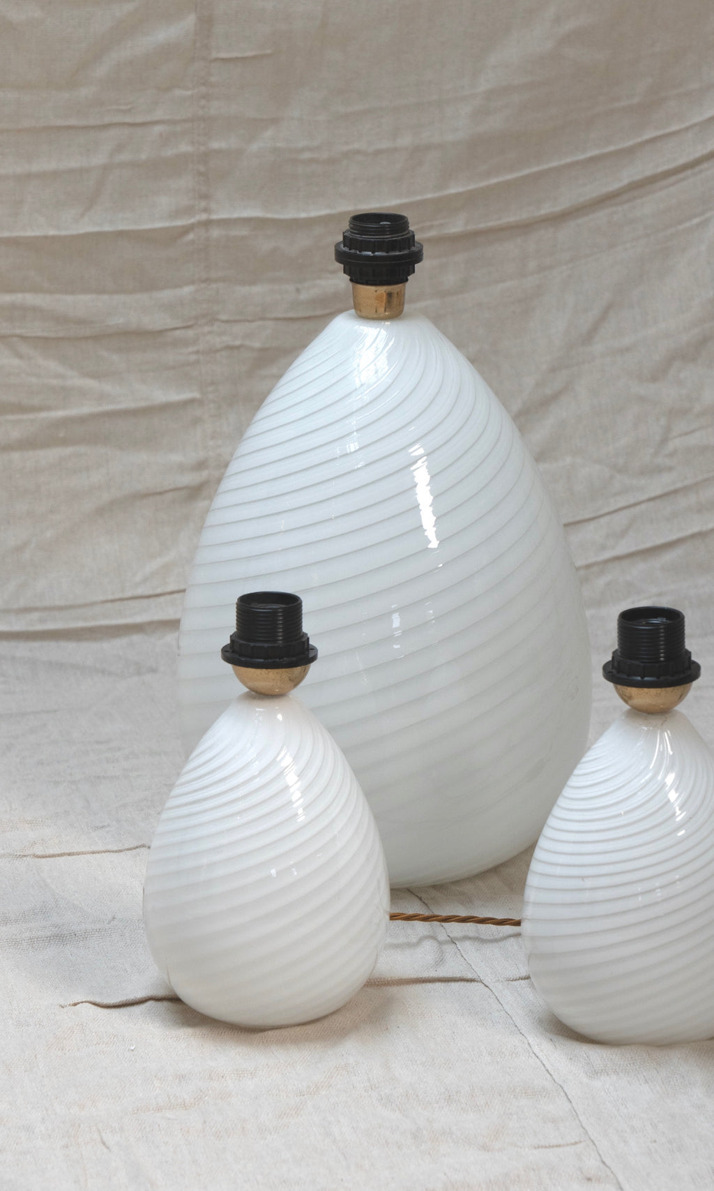 Large Vintage Murano Egg Lamp