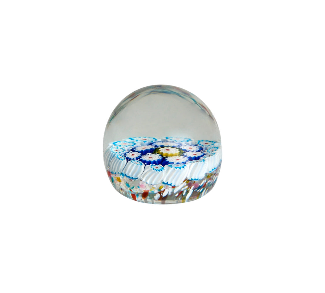 Vintage Blue and White Murano Paperweight
