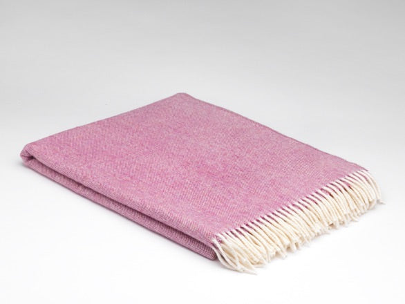 Spotted Pink Supersoft Merino Lambswool Blanket