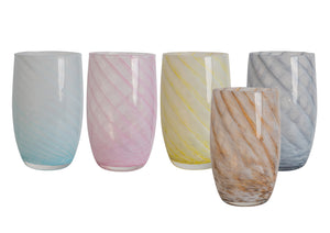 Tall Candy Swirl Handblown Italian Glasses