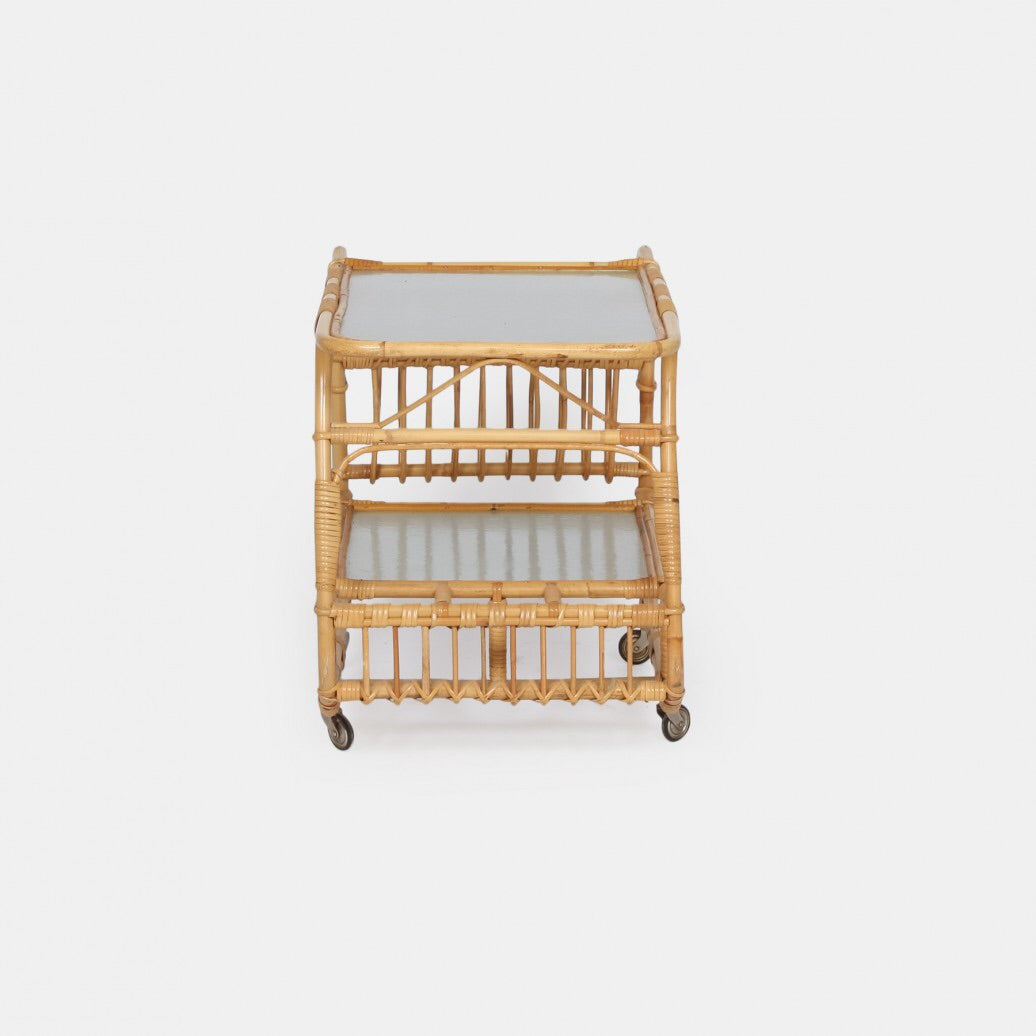 Vintage Bamboo Drinks Trolley