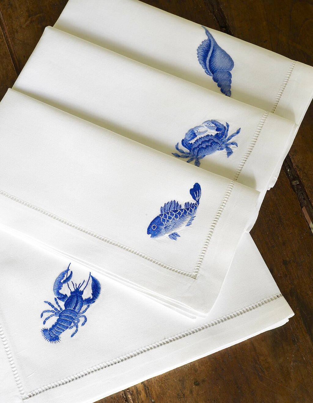 Hand-Embroidered 100% Cotton Napkins
