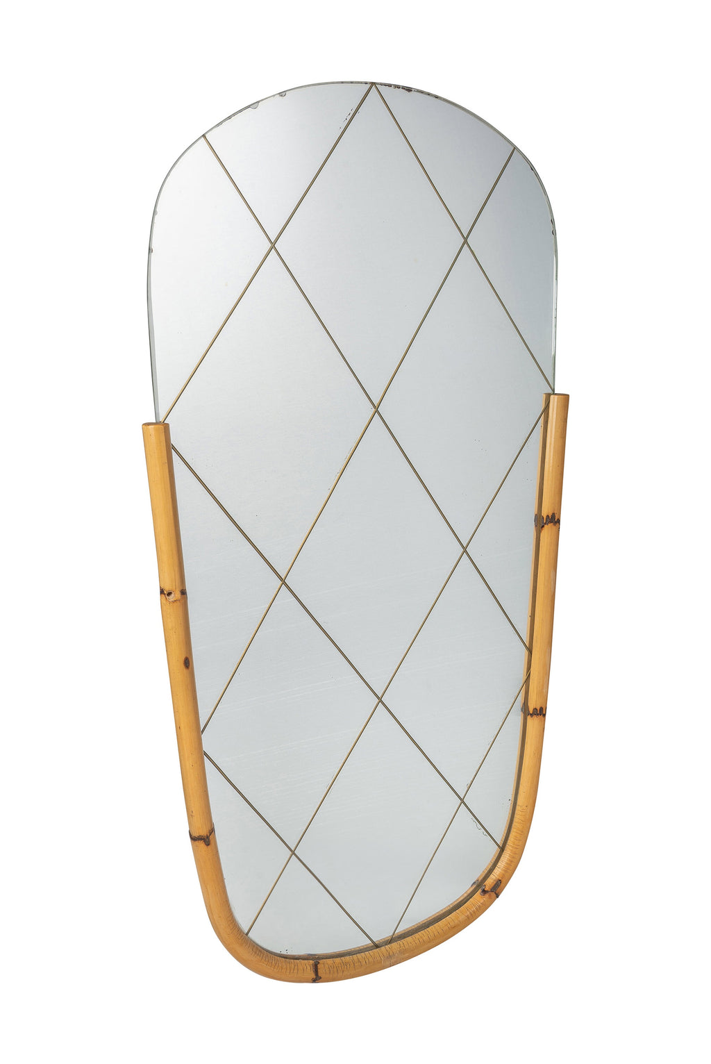 Vintage Bamboo Mirror 50's