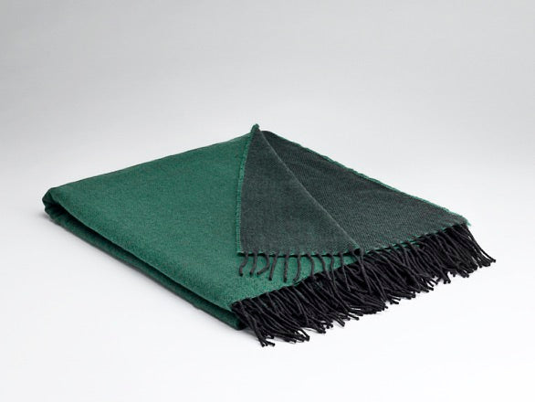 Emerald Reversible Merino Lambswool Blanket