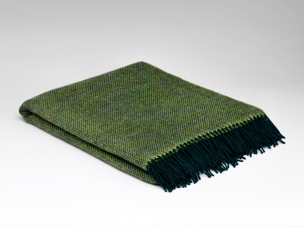 Leaf Green Wool Blanket