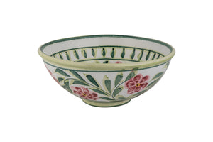 Pink Rose Bud Large Serving Bowl