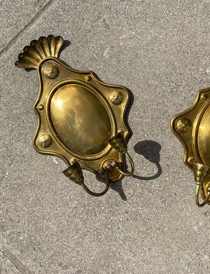 Pair of Vintage Brass Wall Sconces