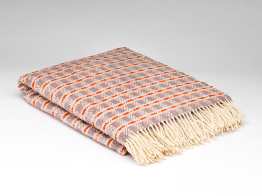 Thistle and Orange Wool Blanket