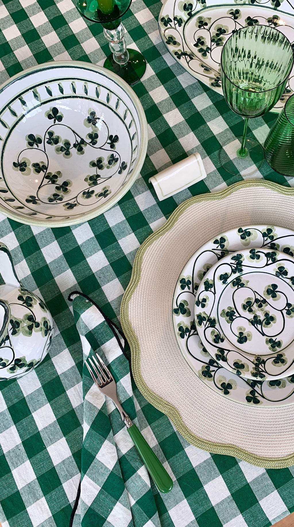 Clover Hand Painted Ceramic Tableware
