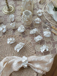 Porcelain Flower Napkin Rings by Lucinda Kirkby