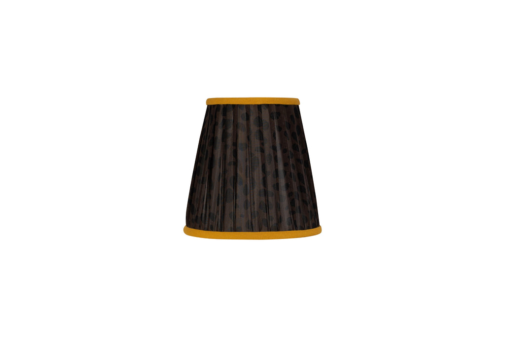 6 Inch Yellow and Black Leopard Print Silk-Lined Lampshade