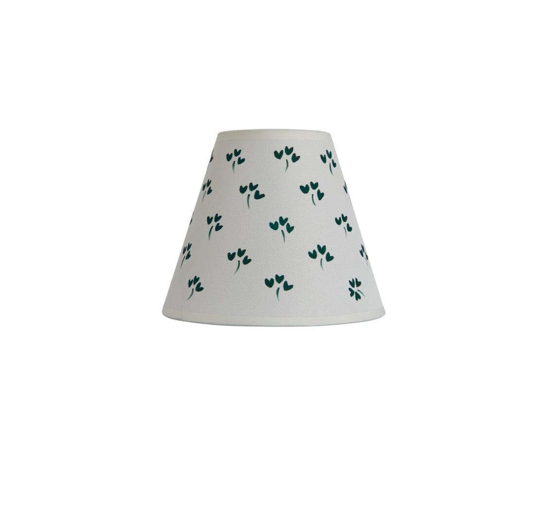 Hand-Painted Lucky Clover Lampshade
