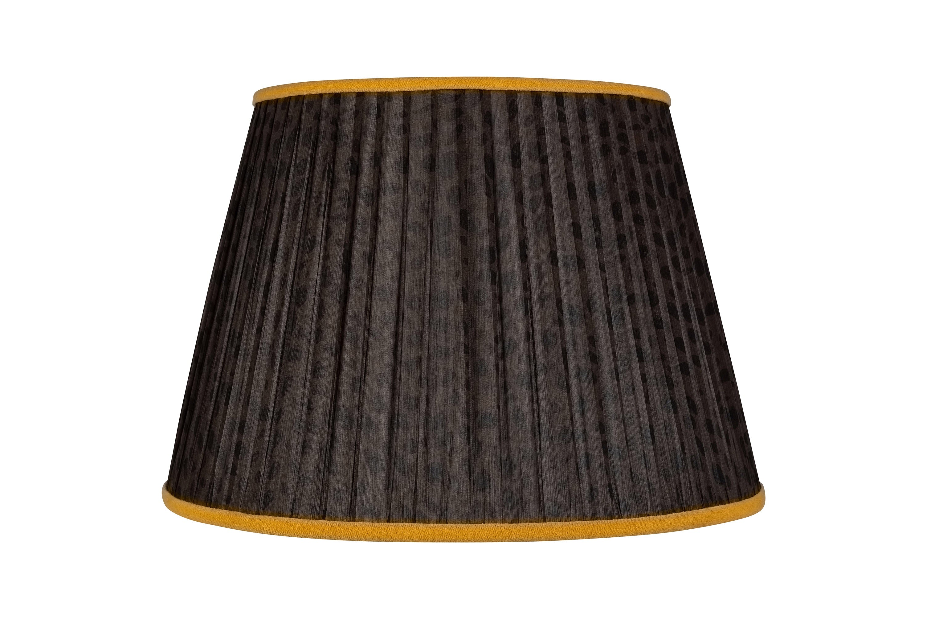 "16"" Yellow and Black Leopard Handmade Lampshade"
