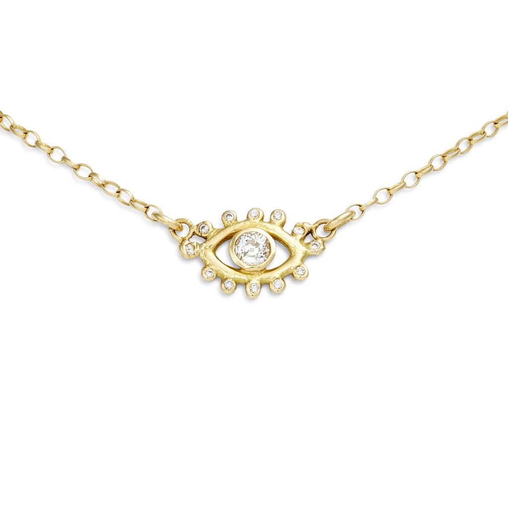 Diamond Eye Amulet Necklace