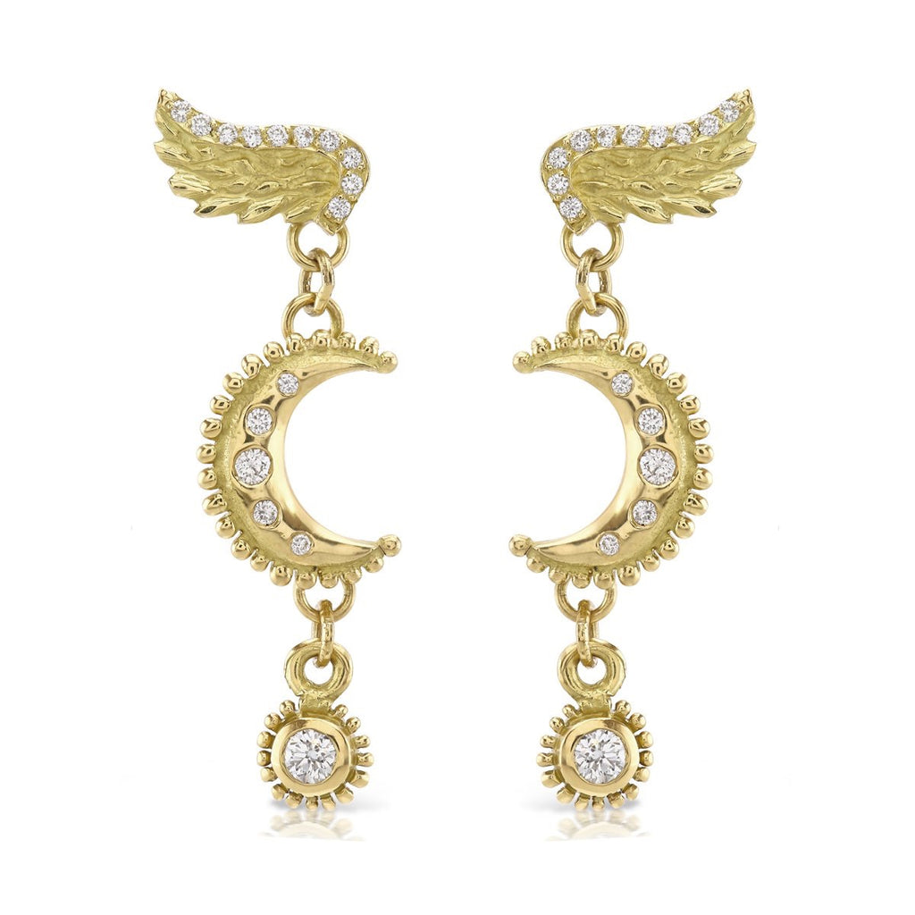 Venetian Diamond Moon Earrings