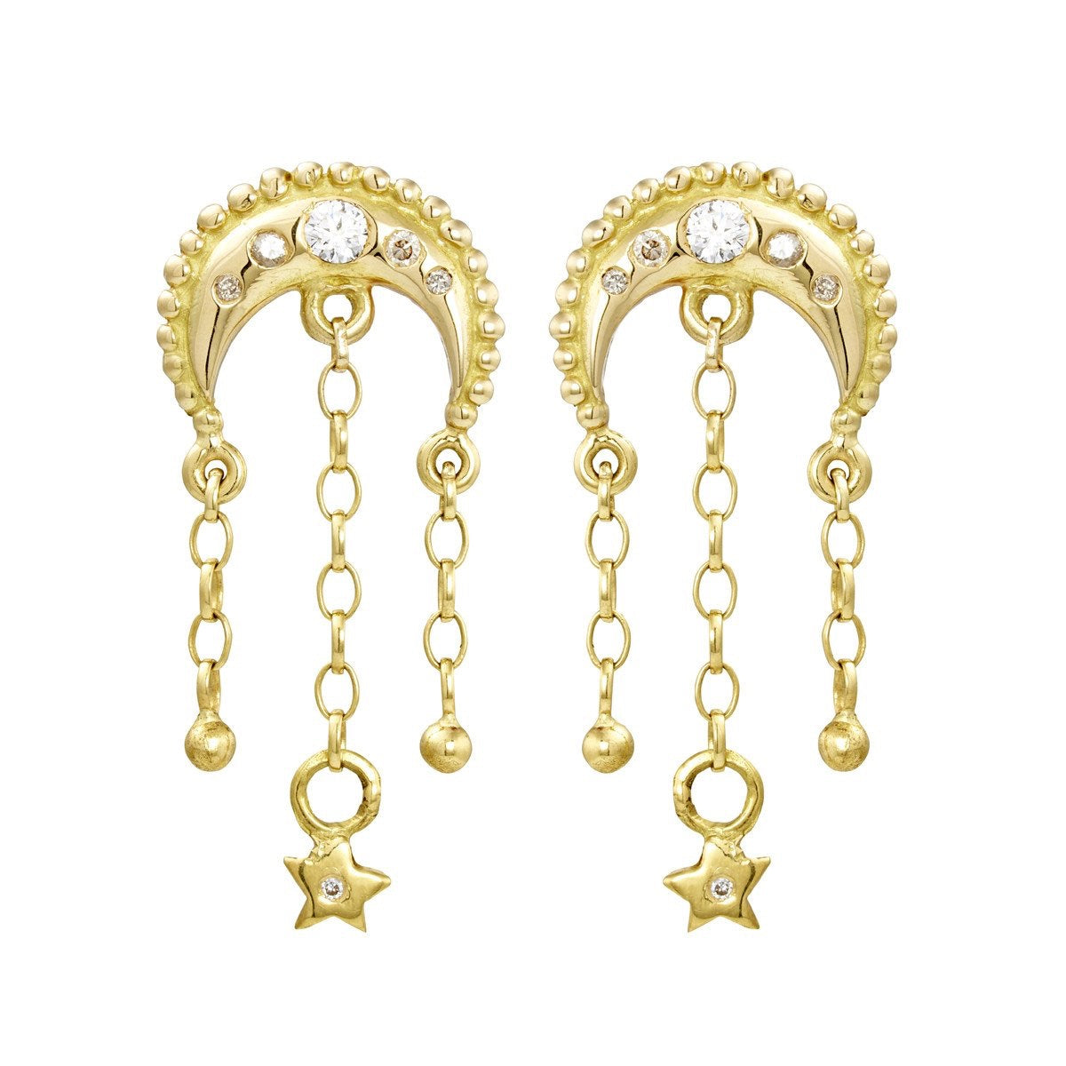 Gold & Diamond Meteor Earrings