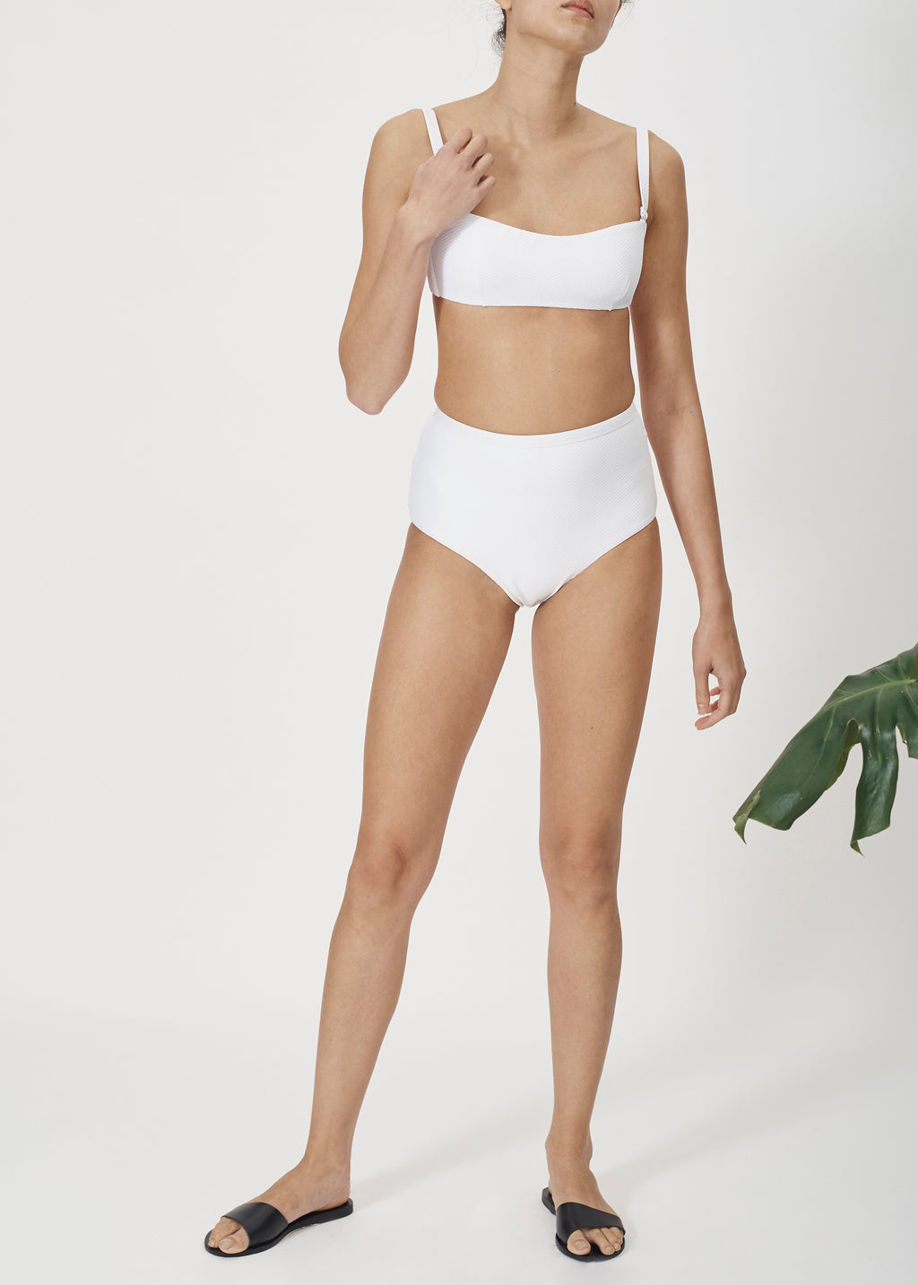 ASCENO BRIGHT WHITE HIGH WAISTED BOTTOM