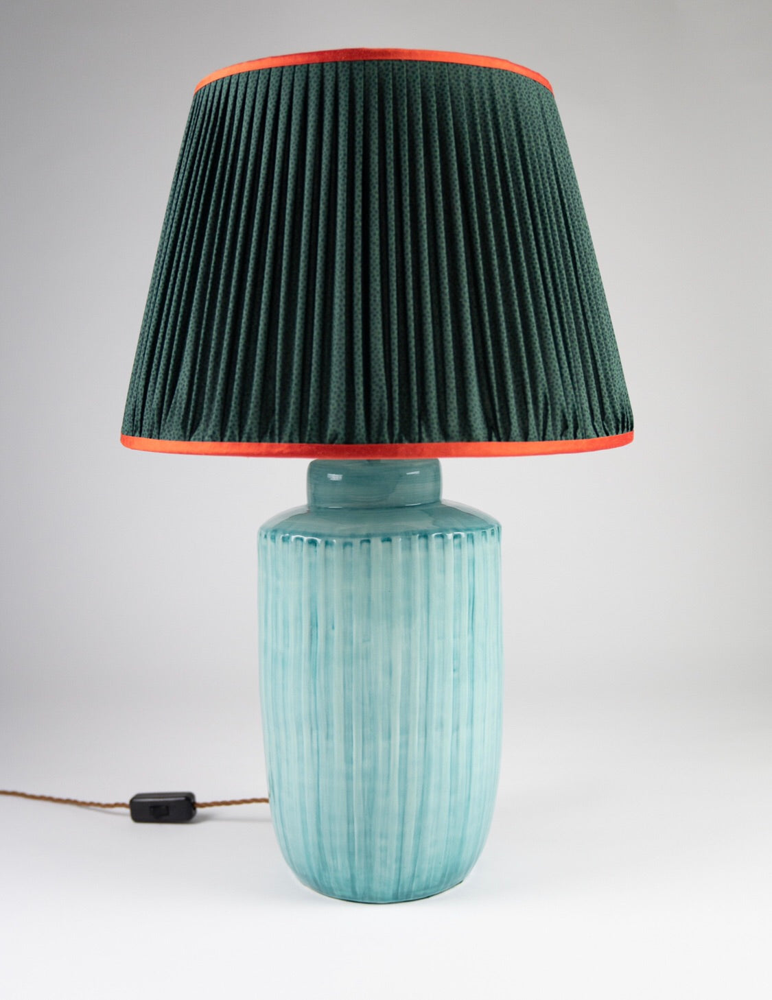 "Green Spot Handmade 16"" Silk-Lined Lampshade"