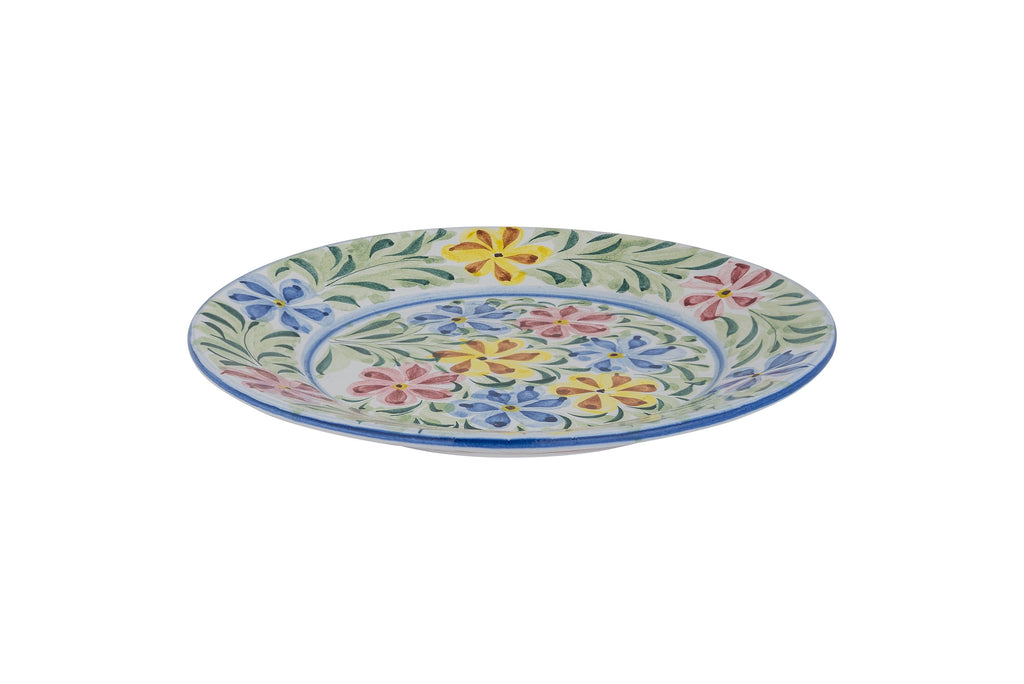 Multi-Coloured Floral Hand Painted Plate