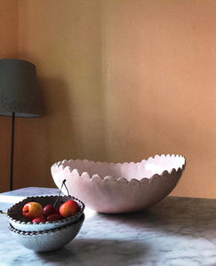 Large Scalloped Salad Bowl
