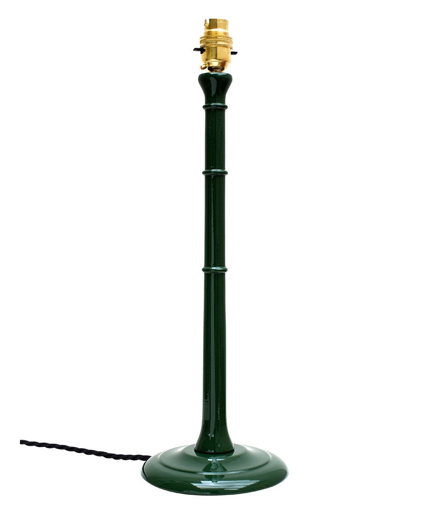 Tall Lacquered Asker Lampbase in Moss Green